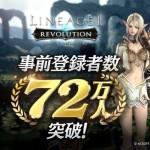 『リネージュ2 レボリューション』事前登録者数72万人突破!追加プレゼントが確定